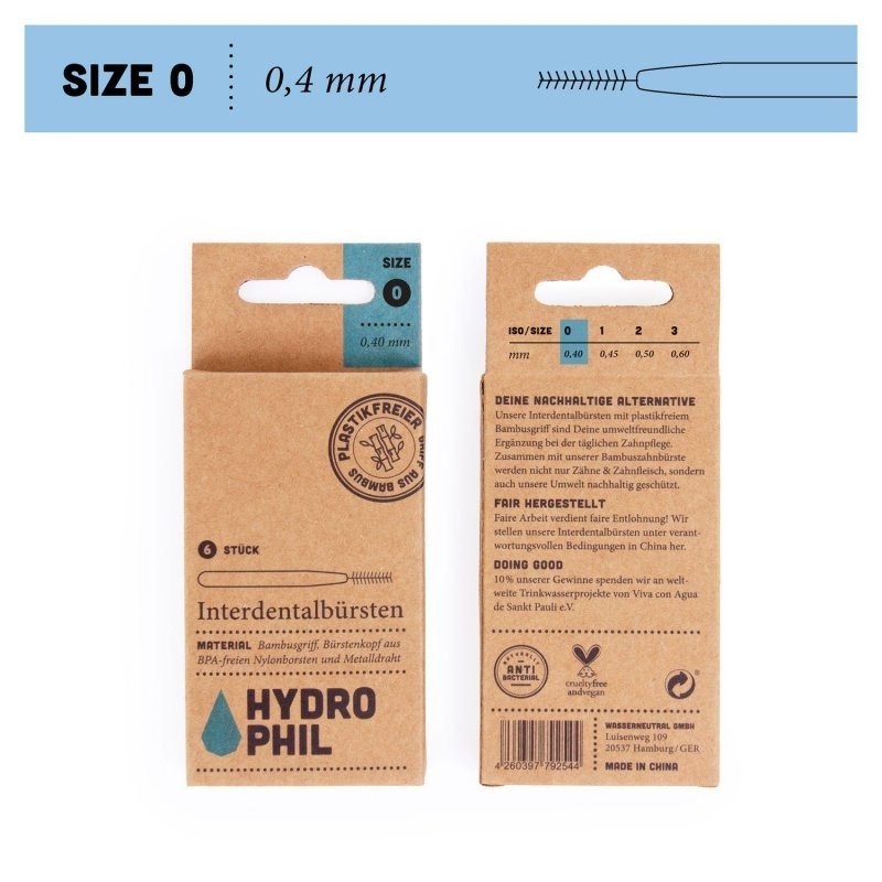 BAMBUSOVÝ MEZIZUBNÍ KARTÁČEK (6 ks) Hydrophil